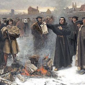 Martin Luther bränner påvens bannbulla